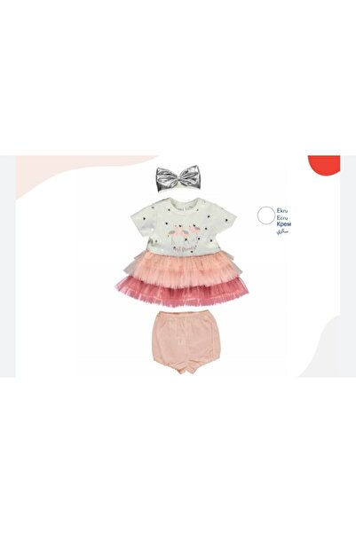 Bebetto Kız Bebek Little Princess Tütü Elbise 3'lü Takım
