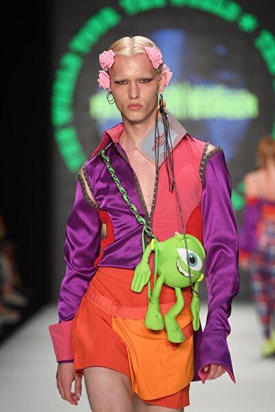 Futuristiklover Kadın Renkli Gömlek