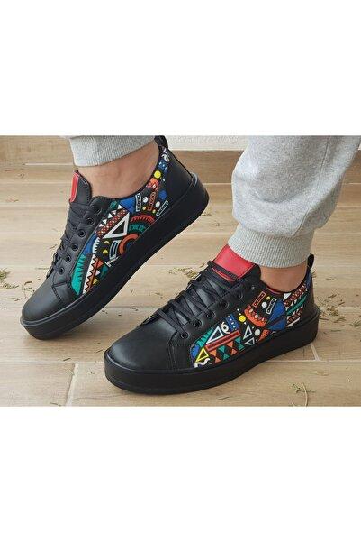 Atlanta Erkek Renkli Desen Casual Ayakkabı