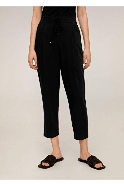 MANGO Woman Kadın Siyah Bağcıklı Takım Pantolon 67056705
