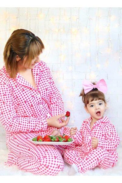 TARZMANYA Çilekli Anne Kız Kombin Pijama Takımı