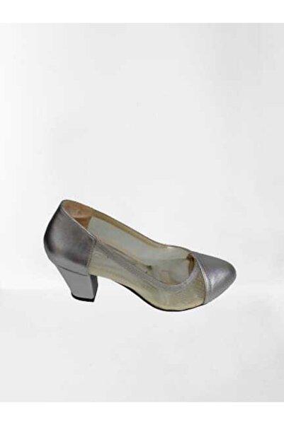 PUNTO Gümüş Saten Ayakkabı 03 387025