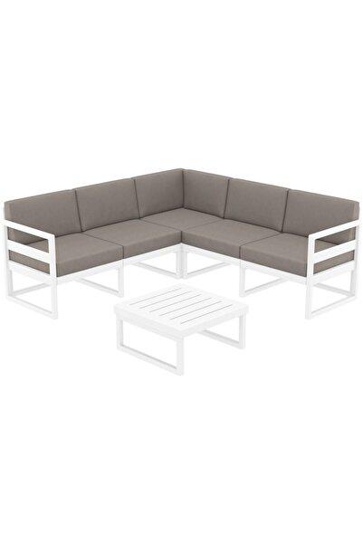 Siesta Mykonos Lounge Köşe Set/koltuk (minderli)