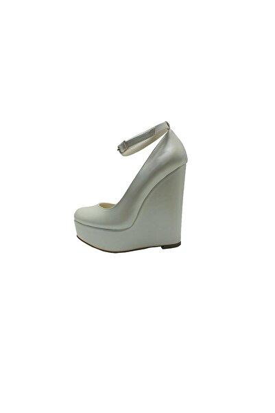 Almera Dolgu Topuklu Platform  Ayakkabı - Sedef