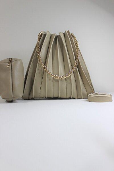 Mutena Boutique Kadın Krem Çanta ve Cüzdan