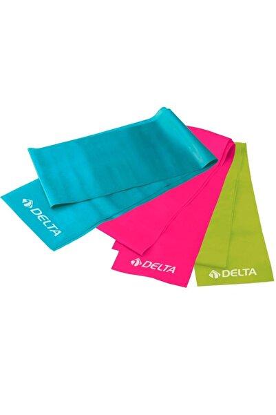 Delta Pilates Bandı Plates Egzersiz Direnç Lastiği Seti 3 'lü