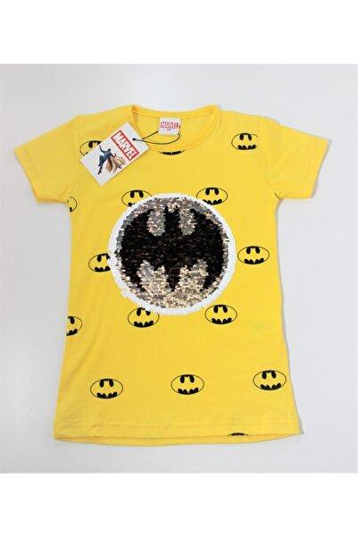 MARVEL Erkek Çocuk Sarı Batman Pullu T-shirt