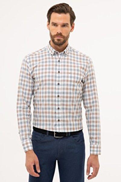 Erkek Kahverengi Detaylı Regular Fit Gömlek G021GL004.000.1113560