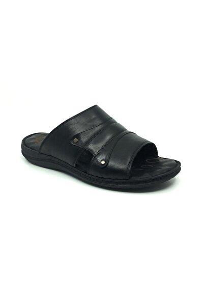 Taşpınar Erkek Hakiki Deri Ortopedik Rahat Terlik-sandalet 40-45