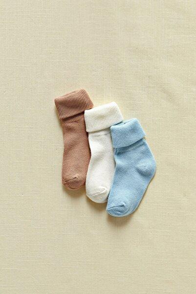 LC Waikiki Erkek Bebek Açık Kahverengi Gd9 Çorap