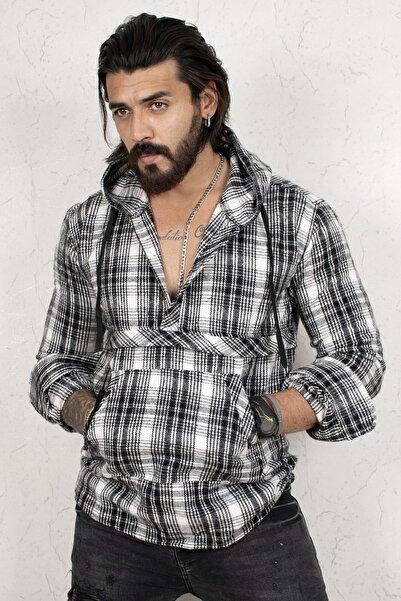 DeepSEA Erkek Siyah Uzun Kol Oduncu Gömlek 2101213