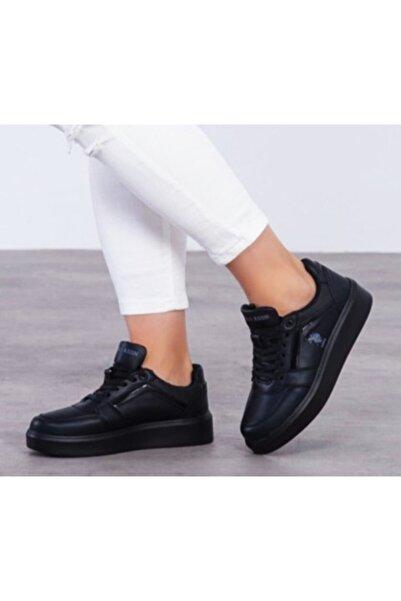 U.S POLO Kadın Siyah Dazzle Havuz Taban Sneaker 100551338 38