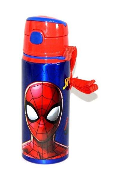 Hakan Çanta Spiderman Pipetli Okul Suluğu Çelik Matara 97851 Orjinal