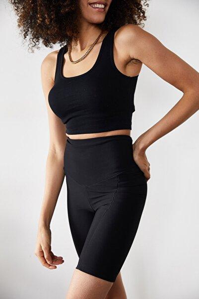 XENA Kadın Siyah U Yaka Kaşkorse Atlet 1KZK2-11362-02