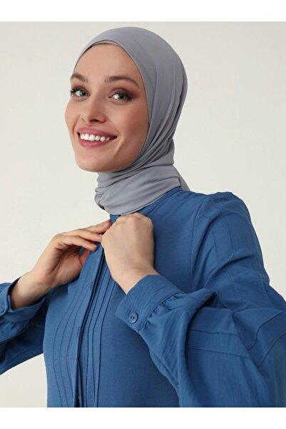 Refka Kadın Lacivert Nervür Detaylı Aerobin Uzun Tunik