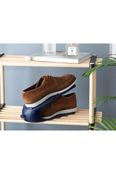English Home Lily Plastik 2 Katlı Ayakkabı Rampası 10,5x26,3x15 Cm Lacivert