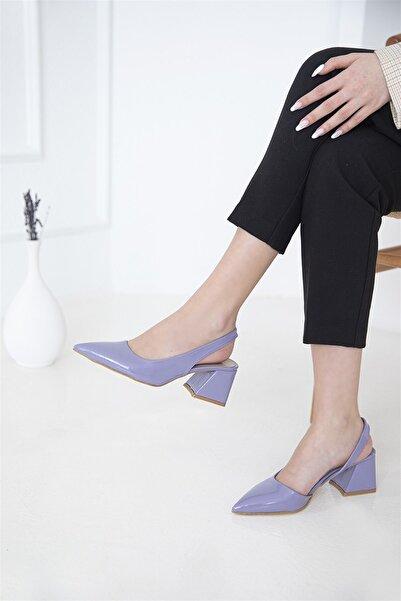 STRASWANS Kadın Lila Rugan Topuklu Ayakkabı