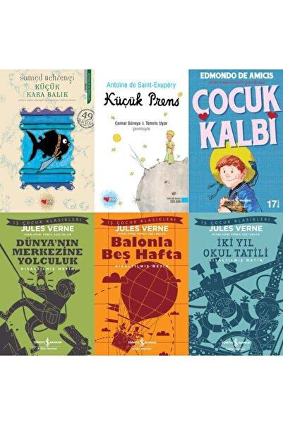 İş Bankası Kültür Yayınları En Çok Okunan Çocuk-gençlik Klasikleri 6 Kitap Set-çocuk Kalbi-küçük Kara Balık-küçük Prens