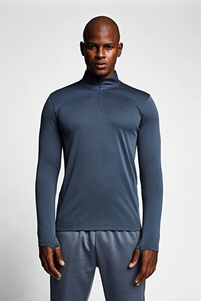 Lescon Erkek  Füme Fermuarlı Üst Sweatshirt 21b-1018