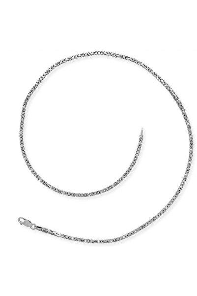 Gumush Erkek Gümüş Köşeli Kral Zincir 5 mm