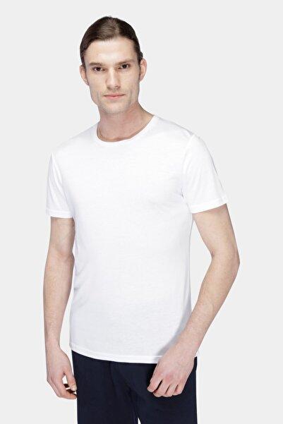 W Collection Erkek Beyaz Basic T-shırt