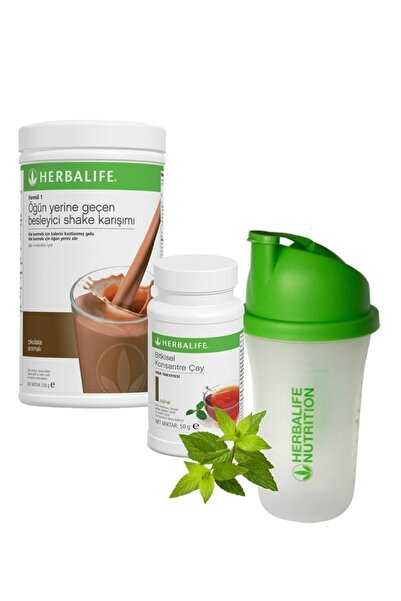Herbalife Shake Çikolata 550 gr + Çay Klasik 50 gr + Shaker