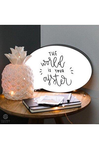 TechnoSmart Kalemle Yazılabilen Konuşma Balonu Görünümlü Işıklı Mesaj Panosu Yazılıp Silinebilen