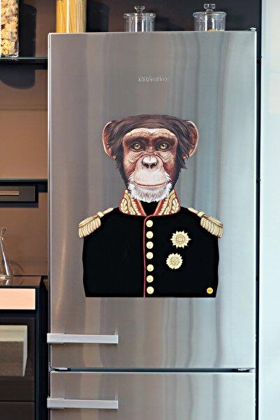 frideco General Monkey Büyük Boy Dekoratif Buzdolabı Magneti (flok Baskı) 51 Cmx65 Cm
