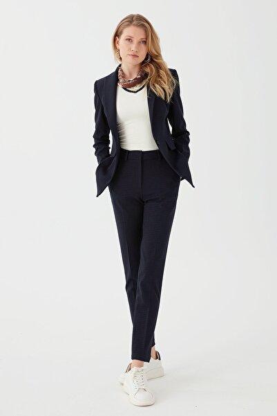 Chima Kadın Lacivert Dar Paça Yüksek Bel Pantolon
