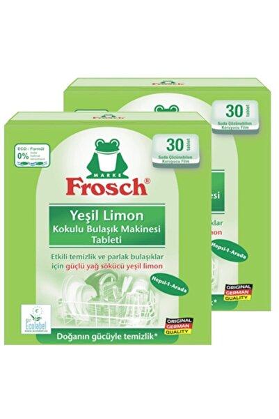 Frosch Yeşil Limon Kokulu 30lu Bulaşık Makinesi Tableti X 2 Paket