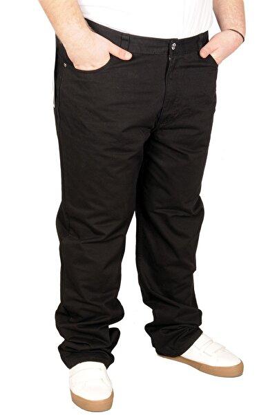 ModeXL Büyük Beden Erkek Gabardin Pantolon 21001 Siyah