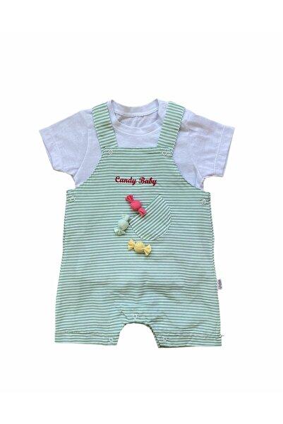 bebegen Candy Baby Yeşil Çizgili Slopet Kız Tulum