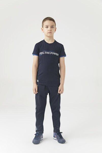 Trabzonspor Erkek Çocuk Lacivert Bisiklet Yaka Feel The Power Baskılı Tshirt
