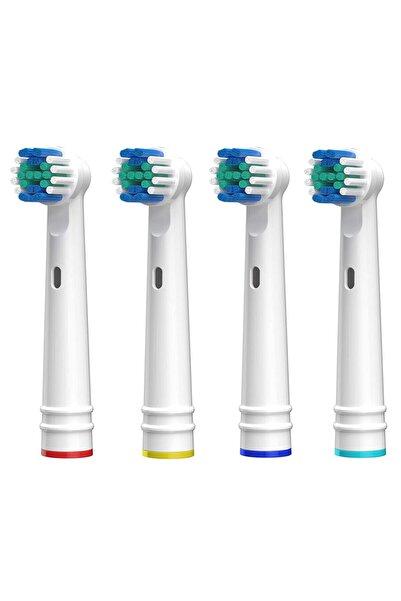 SoftBristles Şarjlı Ve Pilli Diş Fırçası Uyumlu 4 Adet Muadil Yedek Başlık Sb-17a