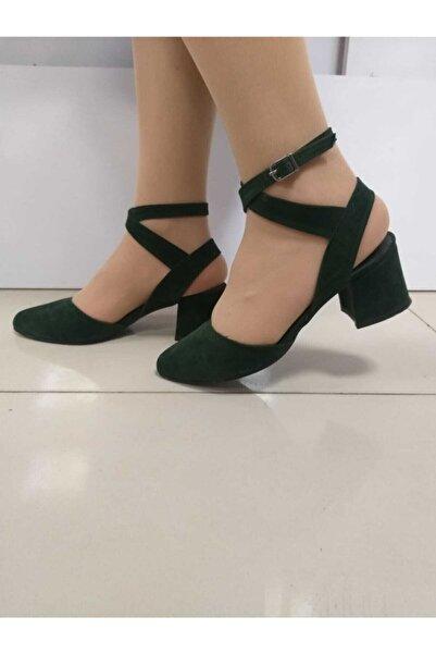 PUNTO Kadın Haki Kısa Topuk Ayakkabı