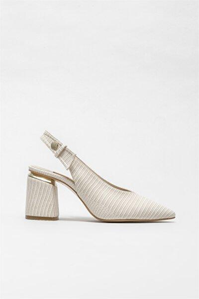 Elle Shoes Kadın Bej Topuklu Ayakkabı
