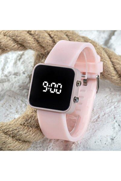 Saattino Yeni Pinkoli Pembe Renk Dijital Led Ekran Büyük Kız Çocuk Genç Kadın Saati St-303756