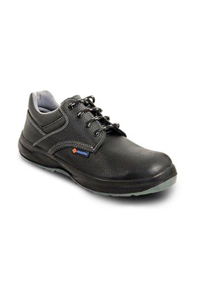 Master Erkek Siyah İş Güvenlik Ayakkabısı Çelik Burunlu
