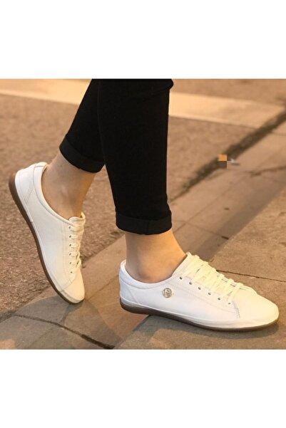 U.S POLO U.s. Polo Assn. Hakiki Deri Beyaz Converse Ayakkabı Jojo