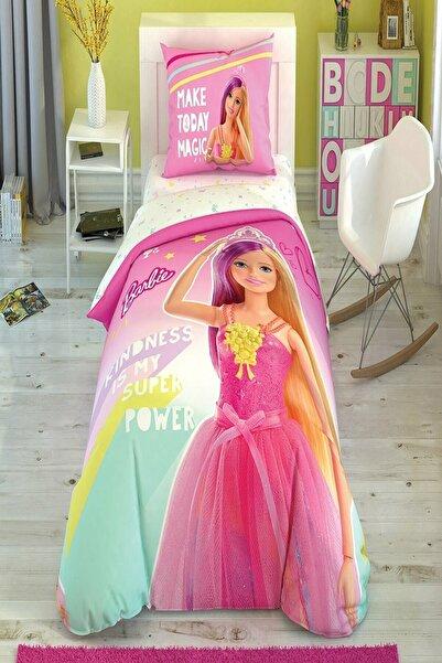 Taç Lisanslı Tek Kişilik Nevresim Takımı Barbie Kindness Glow