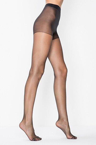 Penti Kadın Siyah 15 Den Fit Parlak Ince Külotlu Çorap