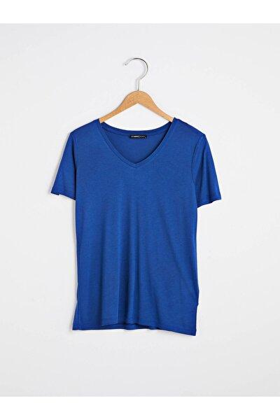 LC Waikiki Kadın Mavi T-Shirt