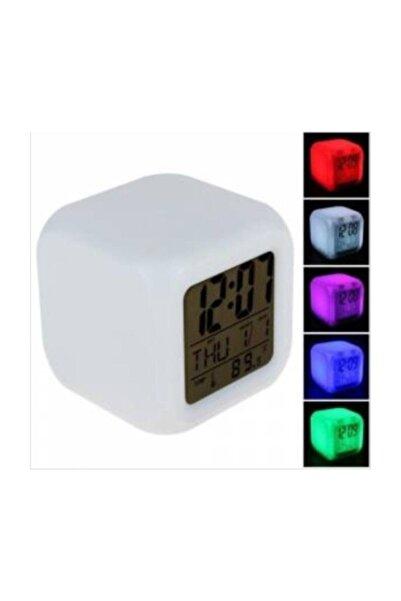 Piranha Zeynep Home&dekor Renk Değiştiren Dijital Alarmlı Termometreli Gece Lambalı Masa Saati