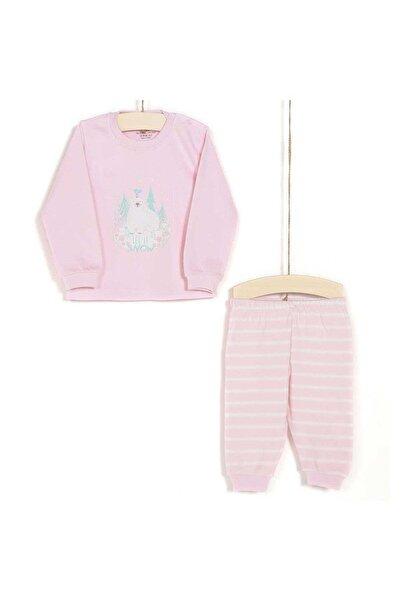 Aziz Bebe Kız Bebek Pijama Takımı 6-24 Ay 9319