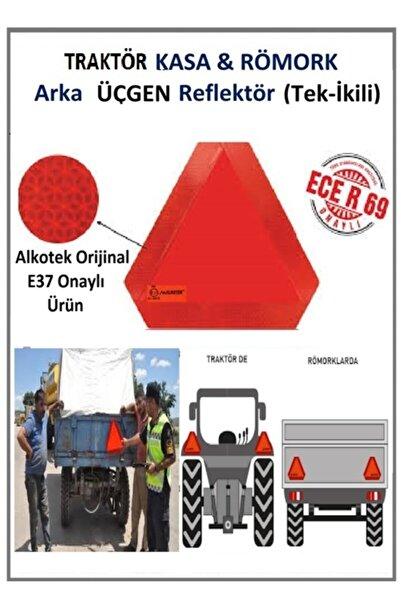 ALKOTEK11 Traktör-römork Üçgen Reflektör E-37 Onaylı Orijinal Alkotek Ecer69 1 Adet 2 Li Tkm