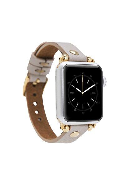 Bouletta Gold Apple Watch Deri Kordon 38-40mm Ferro Trok Erc3 Bej