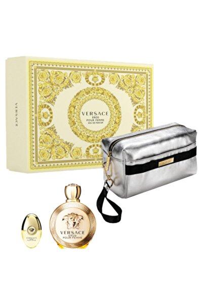 Versace Eros Femme Edp Kadın Parfüm Set (edp 100 Ml+10 Ml+pouch)