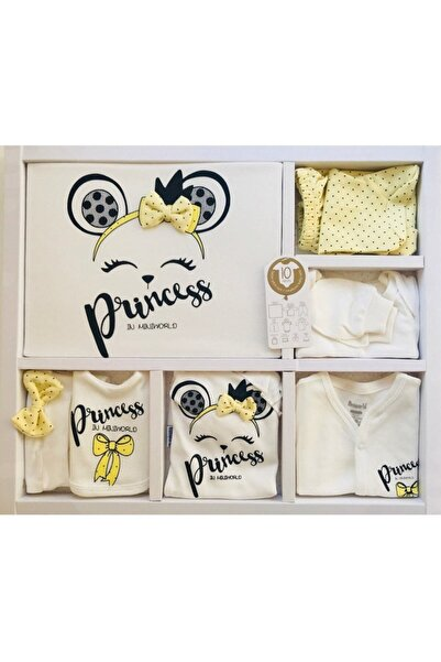 Miniworld Kız Bebek Sarı Fiyonklu Prenses Hastane Çıkışı 10'lu Set