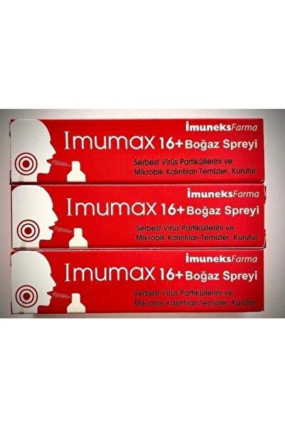 Imuneks Imumax Boğaz Spreyi+16 30 Ml*3 Adet Skt:03.2023