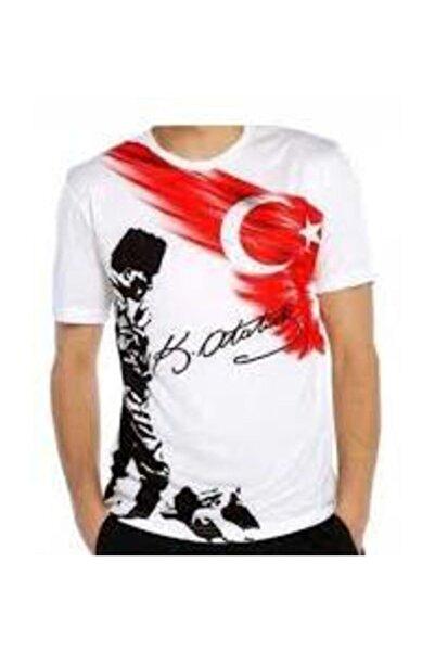 salarticaret Unisex Beyaz Atatürk Kocatepe T-shirt
